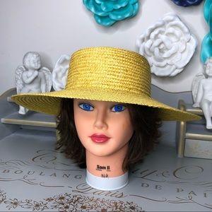Hat summer straw  Shade floppy yellow hat